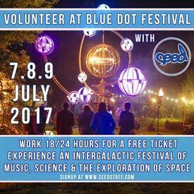 Volunteer at Bluedot Festival