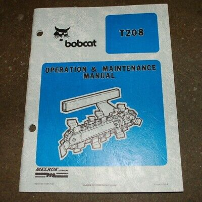 Ditch Witch T208 Walk Behind Trencher Owner Operation Maintenance Manual Book