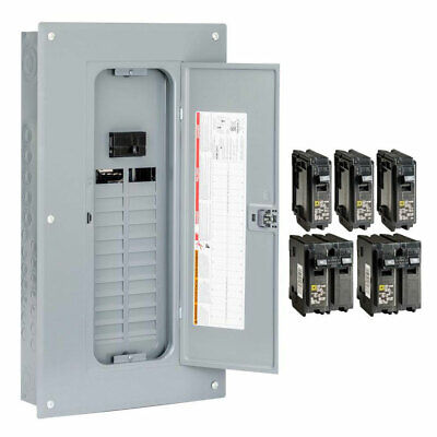 Square D 100 Amp 24-space 48-circuit Indoor Main Breaker Panel Box Load Center