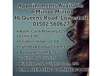 Hair Appointments Available
