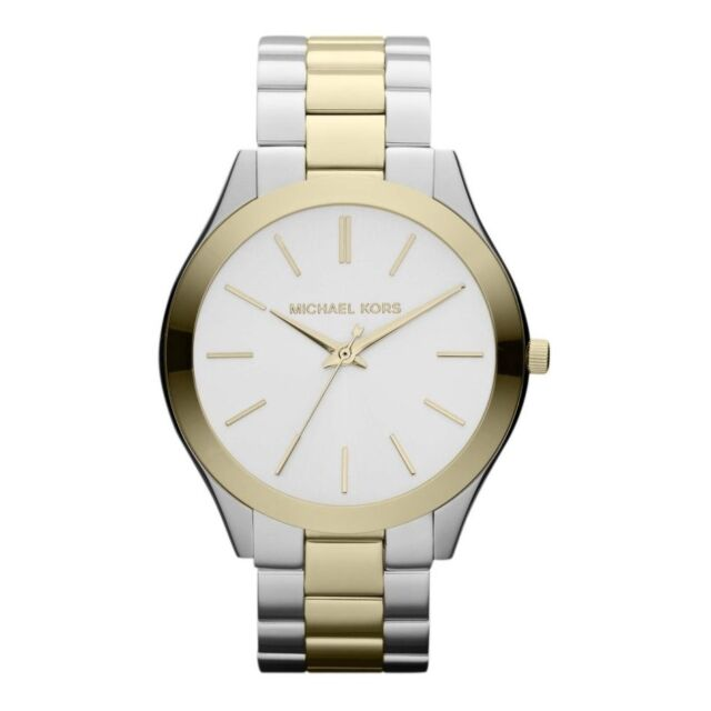 Michael Kors Stainless Steel and Gold Plated Ladies Watch MK3198