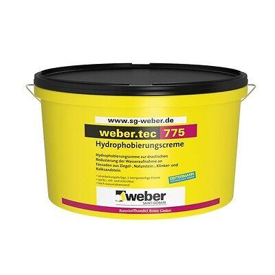 GP.37,50€/L) 4 Liter Weber.tec 775 Hydrophobierungscreme Fassaden Imprägnierung