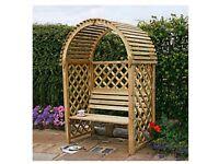 arbour arbor seat bench - garden or patio furniture