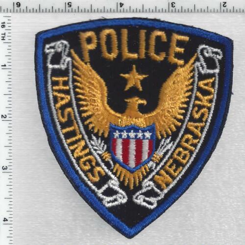 Hastings Police (Nebraska) 1st Issue Uniform Take-Off Shoulder Patch