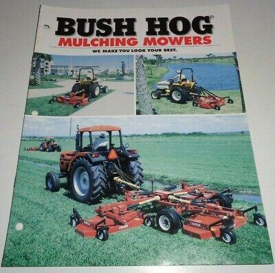 Bush Hog Mth-600 Mth-720 Tdm-15 Tdm-17 Mulching Mower Sales Brochure Literature