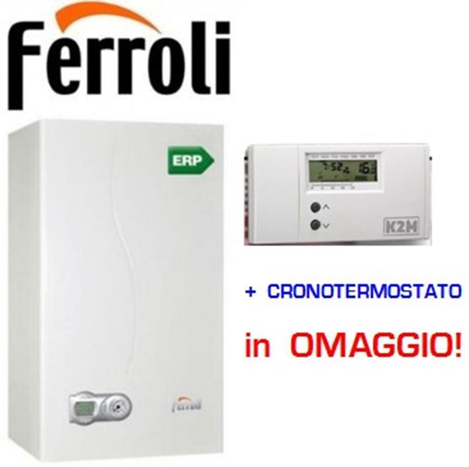 Caldaia condensazione Ferroli DIVACONDENS F 24 KW  + cronotermostato