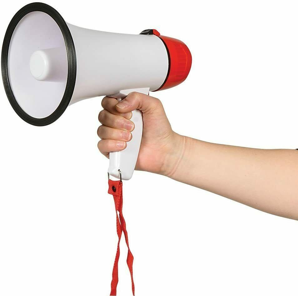 Megaphone Compact Portable with Siren Alarm Sporting Events