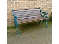 Large Cast Iron Garden / Park Bench