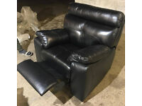 Brand New Cameron Leather Recliner Chair - Black (£499.99 in store!)