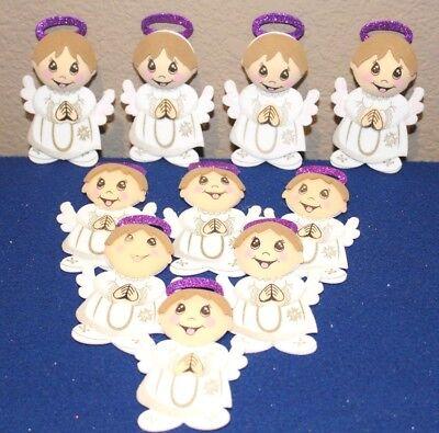 BAPTISM / COMMUNION BOY PARTY SUPPLY OR DECORATION FOAM FIGURES 10 PACK - Foam Figures