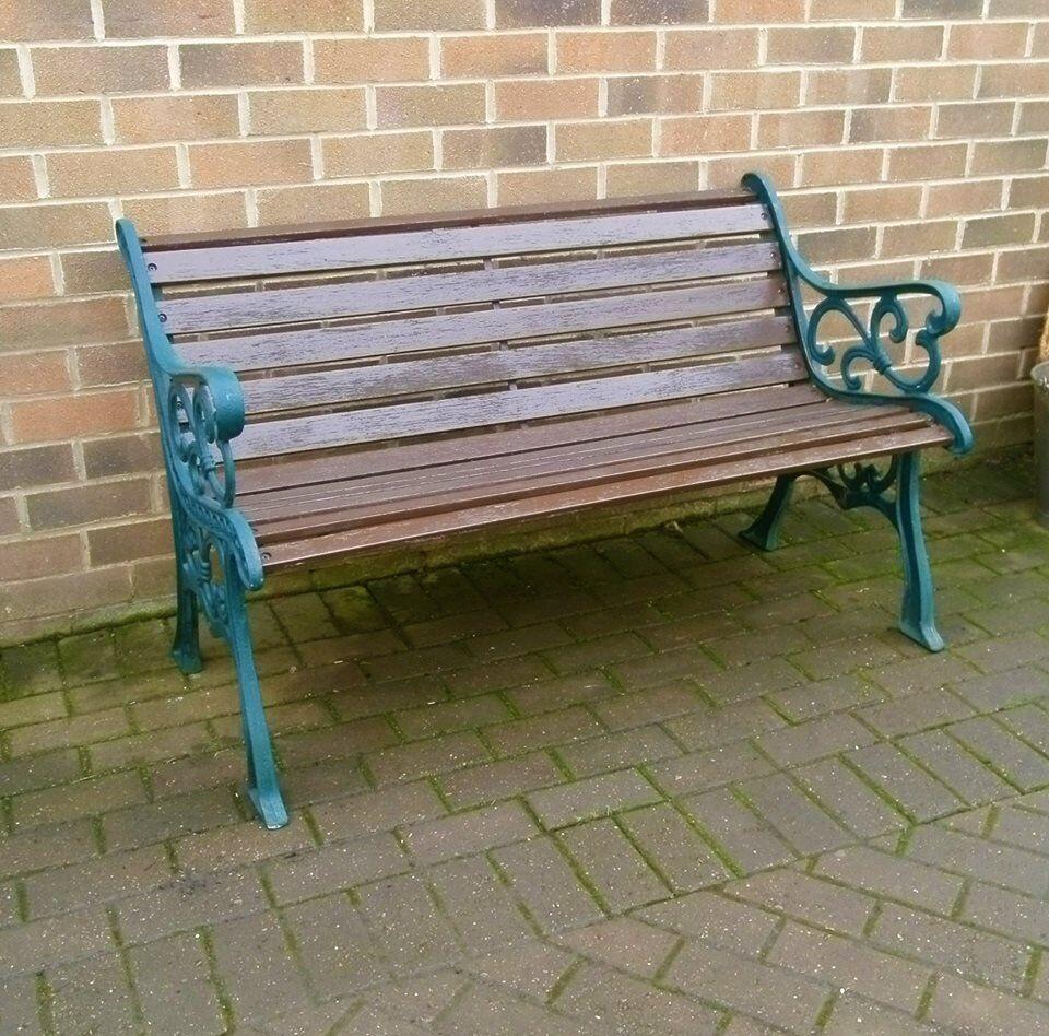 Amazing Large Cast Iron Garden Park Bench In Bradford West Yorkshire Gumtree Customarchery Wood Chair Design Ideas Customarcherynet