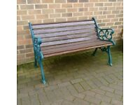 large cast iron garden park bench