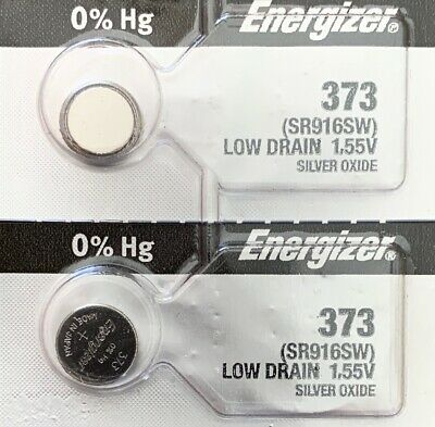 2-ENERGIZER 373 Battery SR916SW Free Ship USA. Best by 2023. Authorized