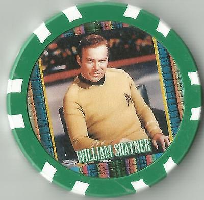 STAR TREK  *CAPTAIN JAMES KIRK*  WILLIAM SHATNER    COLLECTOR CHIP