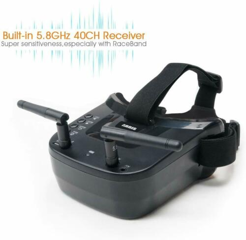 5.8Ghz FPV Goggles, Arris VR-009 Video Headset 5.8G 40CH HD 3 inch 16:9 Display