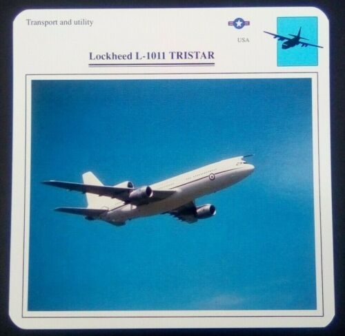Transport and Utility Lockheed L-1011 TriStar Military Photo Card Specifications