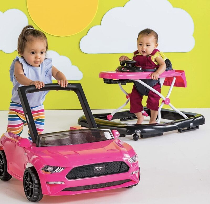 Bright Starts 3 Ways Activity Station Fun Play Ford Mustang Baby Walker NEW