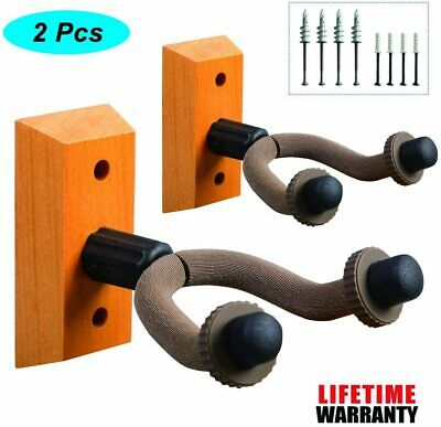 2 Pack Guitar Hangers Wall Mounts Holder Stand for Acoustic Electric Guitar Bass