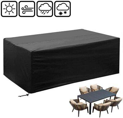 Funda de Muebles de Jardín para Mesas Sillas Cobertura Impermeable 242*162*100CM