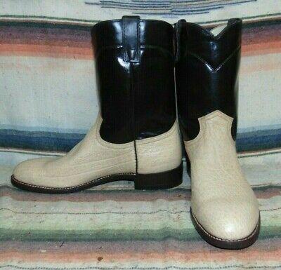 Mens Vintage Texas Boot Company Tan / Brown Bullhide Boots 10.5 EE USA NEW NIB