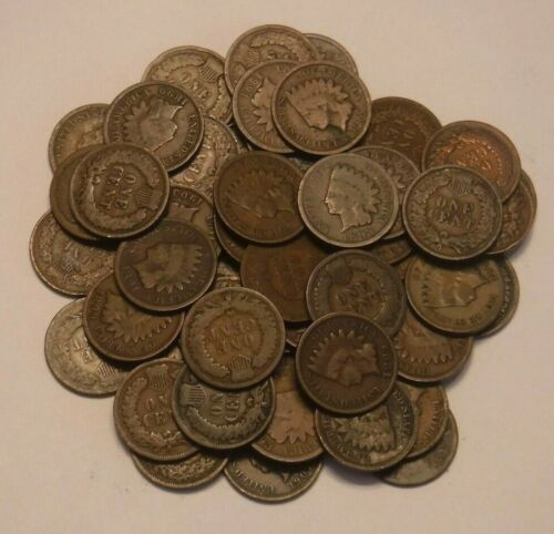PREMIUM Roll of 50 Indian Cents (including dates from 1880