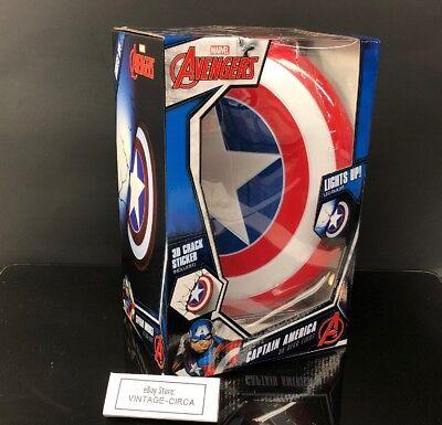 *NEW* Marvel AVENGERS CAPTAIN AMERICA SHIELD 3D Deco LED LIGHT Wall By: Light FX