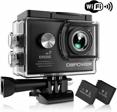DBPOWER EX5000 Action Go Camera 14MP 1080P HD WiFi Waterproof Sports Pro Cam