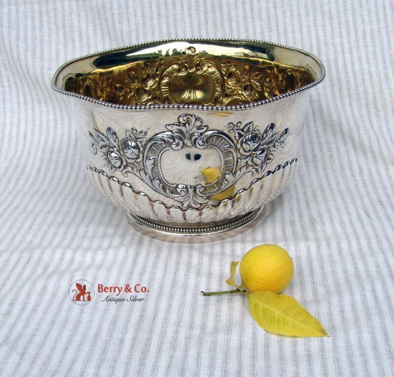 Large Ornate Punch Bowl Sterling Silver Gorham Silversmiths 1896