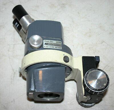 Nice Ao American Optical 569 Stereozoom Microscope Head And Rack 7-30x