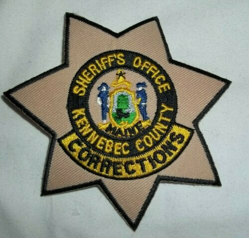 NEW Embroidered Uniform Patch KENNEBEC COUNTY CORRECTIONS SHERIFF