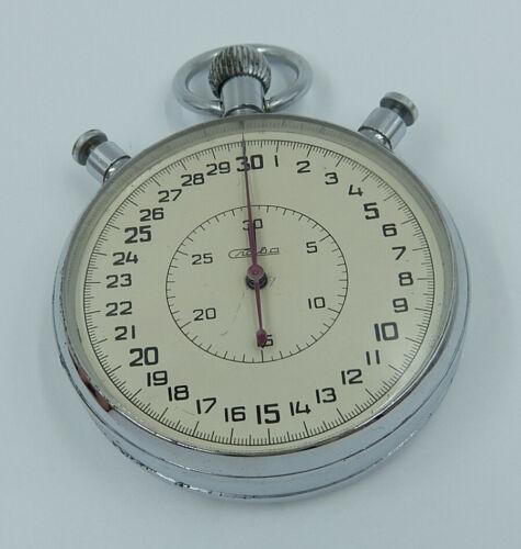 Slava Vintage USSR Russian Soviet Split stopwatch Chronometer 20 jewels 289859