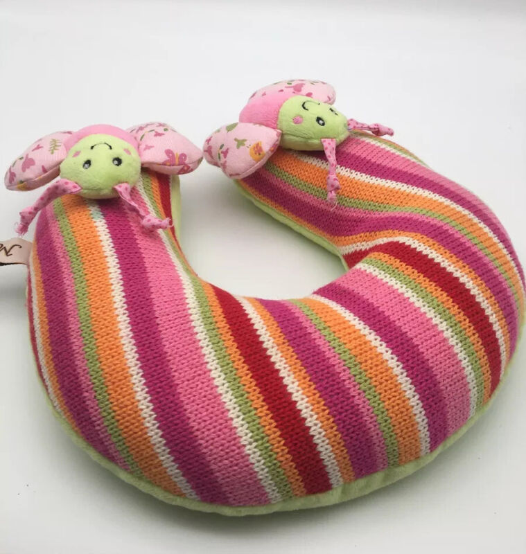 Maison Chic Knit Pink Green Travel Neck Pillow Infant Baby Head Support