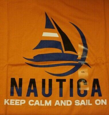 Nautica Orange Logo Mens Big Tall Short Sleeve Shirt 6X 6XL