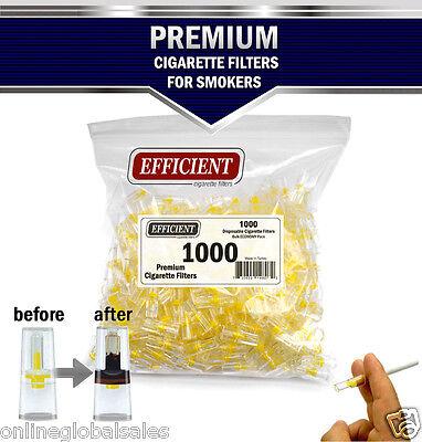 EFFICIENT Bulk Cigarette Filter Tips Block, Filter Out Tar & Nic (1000 Filters)