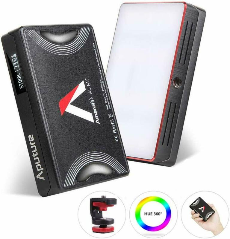 US Shipping Aputure AL-MC RGB Led Video Light CRI96+ 0-360 Full Color 3200-6500K