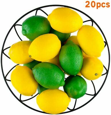 20 PCS Artificial Fake Fruit Lemons and Limes for Home Kitchen Party Decoration