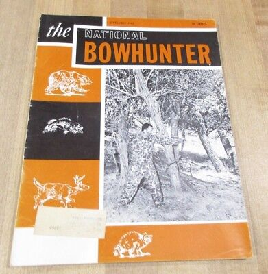National BowHunter Magazine September    1963   Vol 18 NO 1 >