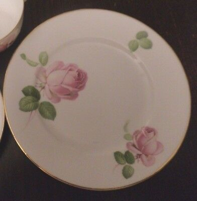 rare Thomas porcelain side plate Bavaria 1908-24 pink roses replacement Porcelain Side Plate