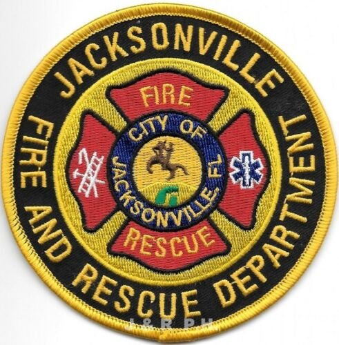 """Jacksonville Fire - Rescue, Florida (4"""" round size) fire patch"""