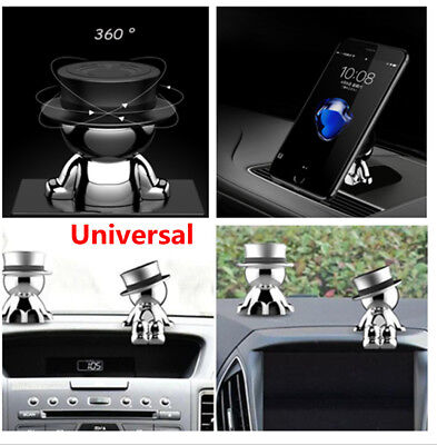 Car 360° Rotatable Creative Phone Holder Mount Stand Stable Magnetic Hat Suction