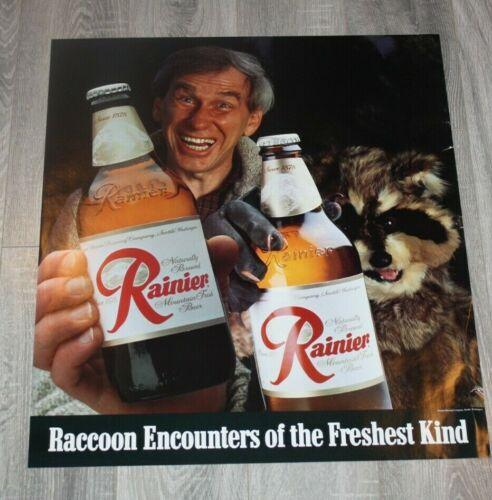 Vintage Rainier Beer poster