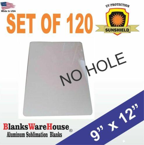 """120 Pieces PARKING SIGN  ALUMINUM  SUBLIMATION BLANKS 9"""" x 12"""" / NO HOLES"""