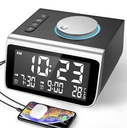 Dekala Digital Clock Radio Alarm Clock for Bedroom Small Digital Clock..
