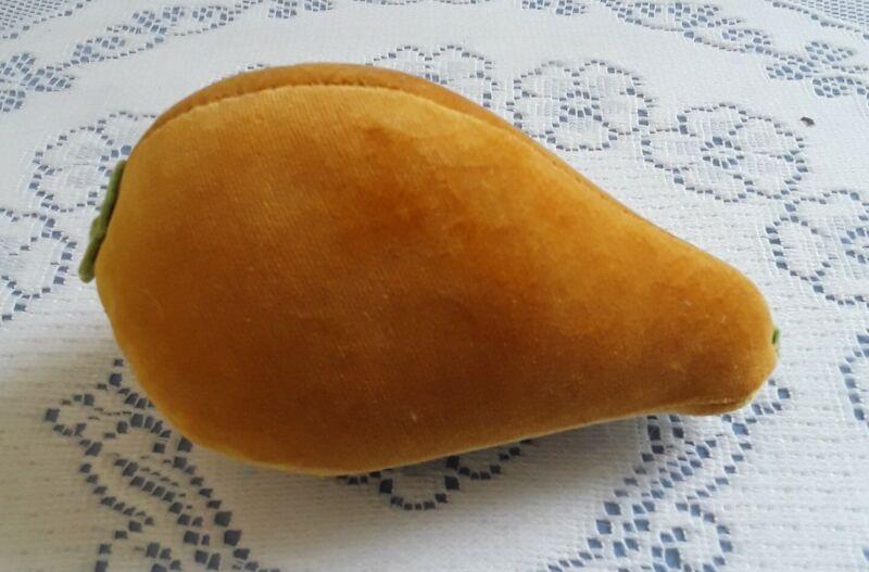 Antique Velvet Pear Pin Cushion