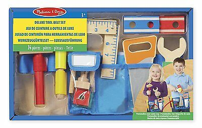 Melissa and Doug 15174 Wooden Deluxe Tool Belt Set Toy New