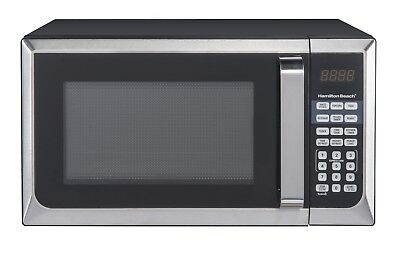 Hamilton Beach 1.1 cu FT Kitchen Microwave Child-Safe Oven 1000W LED Red Display