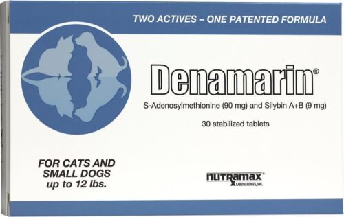 Denamarin Liver Support Supplement Small Dogs and Cats (up to 12 lbs) 30 COUNT