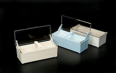 NEW BLUE* GERMICIDE TRAY FOR THE COLD STERILIZATION OF DENTAL, TATTOO, MEDICAL TOOLS