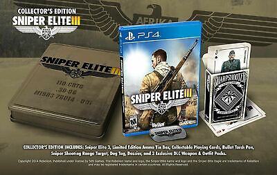 Sniper Elite III 3 Ultimate  Collector's Edition Playstation 4  ()