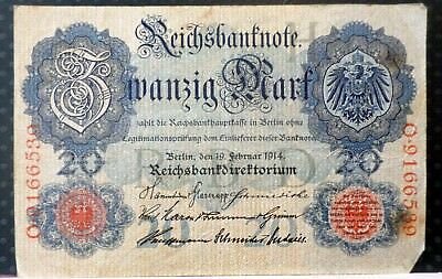 Germany 1914  20 Mark Circulated